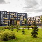 modern urban apartment buildings